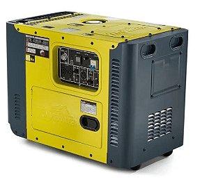 Gerador de Energia Cabinada a Diesel 8,1Kva 220V Trifásico Partida Elétrica - Toyama