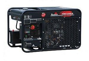 Gerador de Energia a Diesel 12,6 KVA - Trifasico 220V - aberto