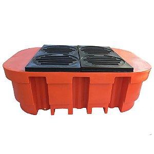 Bacia de Contenção para IBC - 1000 Litros - Reforçada - Capacidade 2000 Kg