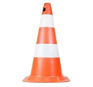 Cone de Sinalização 50 Cm – Laranja e Branco