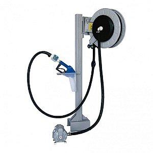 Unidade de Transferência Pneumática à Granel 50LPM com Bico Automático-Carretel-Medidor