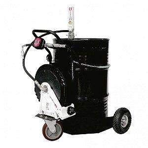 Unidade Movel Pneumática Med Mecânico Carretel Tambor 200L-30Lpm