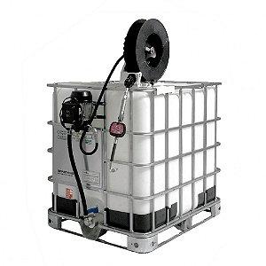 Unidade de Abastecimento Elétrica com Medidor Mecânico e Carretel para IBC 1000L