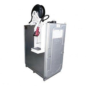 Unidade de Abastecimento Pneumática SAE 90 Cap 1000L 35LPM Med Dig Programável Carretel