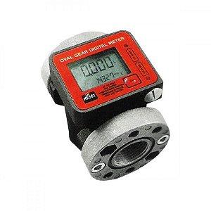 Medidor Digital para Diesel e Óleo Lubrificante Vazão de 100LPM 1 Polegadas BSP