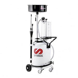 Unidade de Sucção de Óleo Pressurizada Capacidade 70 Litros com Mang Sucção-Descarga-Reservatório-Captador