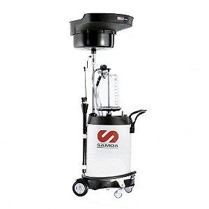 Unidade de Sucção de Óleo Pressurizada  Capacidade 100 Litros com Mang Sucção-Descarga-Reserv-Captador