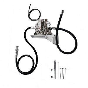 Unidade de Sucção de Óleo Pneumática 50LPM com Mangueira Sucção-Descarte-Ar Comprimido