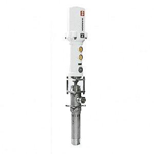 Propulsora Pneumática Gigante para Tambores de 200L 45LPM Entrada do Ar 3-8Pol BSP Saída do Fluído 3-4Pol BSP