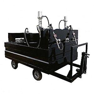 Mini-Comboio Pneumático para Lubrificação tipo Reboque com 3 Propulsoras