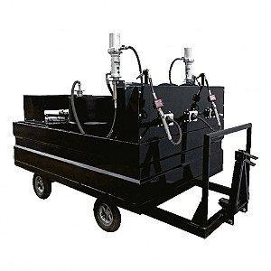 Mini-Comboio Pneumático para Lubrificação tipo Reboque com 4 Propulsoras