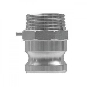 "Adaptador Camlock Em Alumínio Tipo F 1.1/4"" x 1.1/4"""