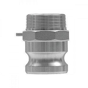 "Adaptador Camlock Em Alumínio Tipo F 2.1/2"" x 2.1/2"""