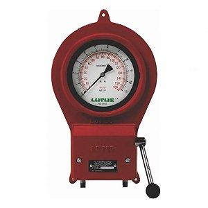 Calibrador de Ar Mecânico em Aço com Mangueira 10 Metros 1-4Pol