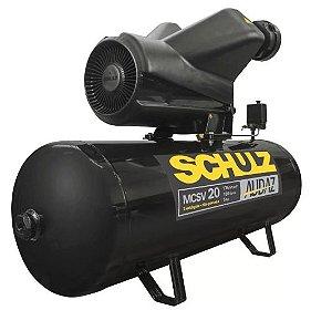 Compressor de Ar Audaz 5HP 20 Pés 200L 175lbf Trifásico 380V - SCHULZ