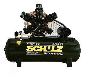 Compressor de Ar 60 Pés 425 Litros com Motor Aberto Trifásico 220/380V - SCHULZ