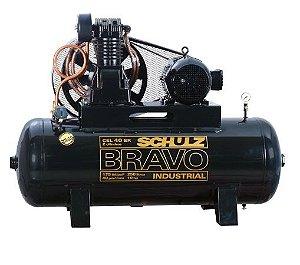 Compressor de Ar 250 Litros 40 Pés Trifásico Alta Pressão Industrial - SCHULZ