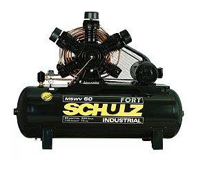 Compressor de Ar 60PCM 425 Litros com Motor Blindado 220/380V Trifásico - SCHULZ