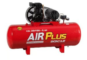Compressor Air Plus CSL 20 Pés 150L 5HP 140PSI 220/380V Trifásico - SCHULZ