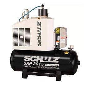 Compressor de Ar Rotativo de Parafuso SRP 3015 Compact III 15HP 11Bar 200L 380V - SCHULZ