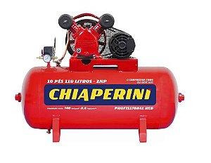 Compressor de Ar Média Pressão Red 10 Pés 140PSI 2HP 110 Litros Trifásico 220/380V - CHIAPERINI