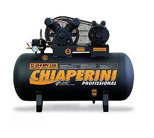 Compressor de Ar Baixa Pressão 10 Pés 120PSI 2HP 150 Litros 110/220V Profissional - CHIAPERINI