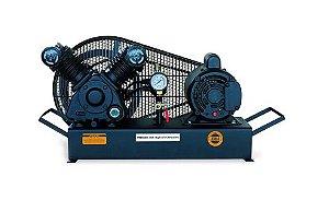 Compressor de Baixa Pressão sobre Base CJ5.2 BPV 5,2 Pés 120PSI 1HP 110/220V Mono - CHIAPERINI