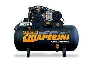 Compressor de Baixa Pressão CJ5.2 BPV 5,2 Pés 120PSI 110L 1HP 220/380V Trifásico - CHIAPERINI