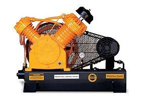 Compressor de Ar Profissional Alta Pressão Sobre Base CJ25 APV 25 Pés 175PSI 5HP 220/380V Trifásico - CHIAPERINI