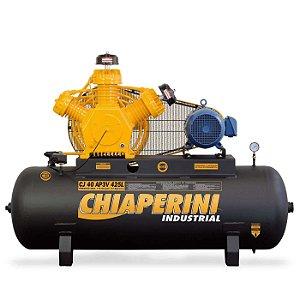 Compressor de Alta Pressão CJ40 AP3V 40 Pés 425L 175PSI 10HP 220/380V Trifásico Contínuo - CHIAPERINI