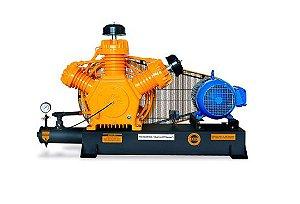 Compressor de Alta Pressão Sobre Base CJ40 AP3V 40 Pés 175PSI 10HP 220/380V Trifásico Intermitente - CHIAPERINI