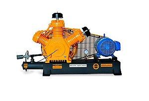 Compressor de Alta Pressão Sobre Base CJ40 AP3V 40 Pés 175PSI 10HP 220/380V Trifásico Contínuo - CHIAPERINI