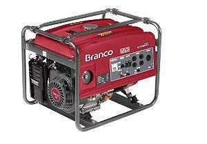 Gerador de Energia à Gasolina B4T 6500 13,0CV 5,5KVA Mono com Partida Elétrica - BRANCO