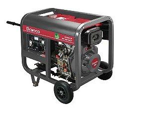 Gerador de Energia à Diesel BD 6500 5,5KVA 10CV Monofásico com Partida Manual - BRANCO