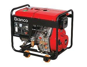 Gerador de Energia à Diesel 6,5Kva 110/220V BD-8000 E - BRANCO