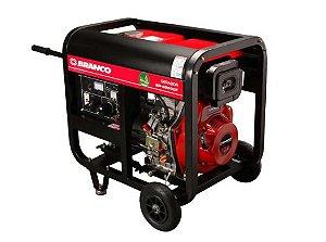 Gerador de Energia à Diesel Monofásico 5,5Kva 110/220V BD-6500 E - BRANCO