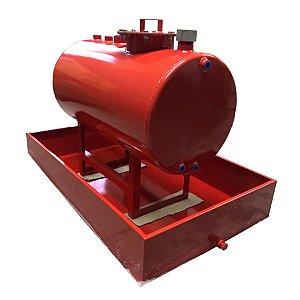 Tanque Aéreo para Combustível com Bacia de Contenção - Capacidade 500 Litros