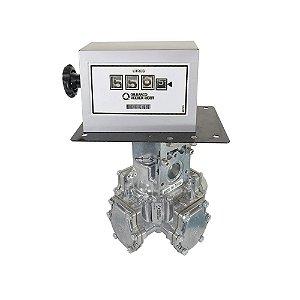 """Medidor de Linha 90lpm com contador mecânico 4 dígitos - 1"""" - Gilbarco Veeder-Root"""