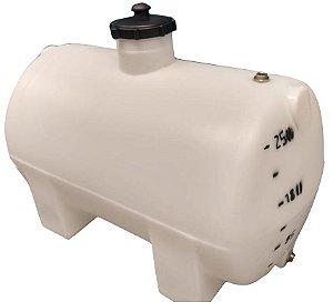 Tanque Cilíndrico Horizontal 250 litros - Polietileno