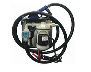 Unidade abastecimento  eletrica 12v - arla 32 gatilho automatico medidor digital - 30lpm