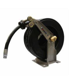 Carretel automatico ,base simples oléo diesel montado com 15 m de mangueira 1 pol
