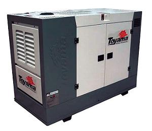 Gerador de energia 25 kva à diesel cabinado trifásico 220V - Toyama