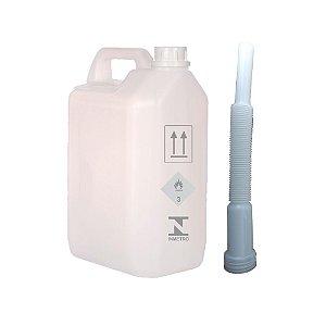 Galão de Emergência de 5 litros para Combustível - Nova Certificação Portaria do Inmetro 141/2019 - Com Bico