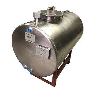 Tanque Aéreo para Combustível 1000 Litros em Aço Inox