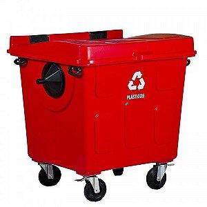 Caçamba Contentora de Lixo 1200L