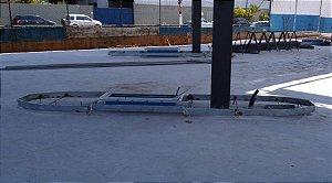 Estrutura de Aço Galvanizado para Ilha de Posto