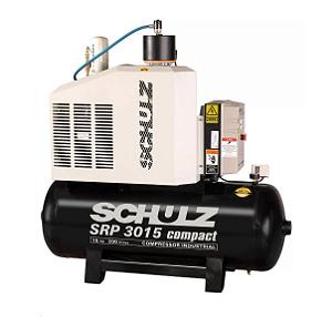 Compressor de Ar Rotativo de Parafuso SRP 3015 Compact III 15HP 9Bar 200L - SCHULZ