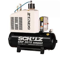 Compressor de Ar Rotativo de Parafuso SRP 3015 Compact III 15HP 9Bar 380V - SCHULZ