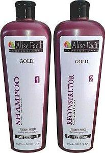 Alise Fácil Escova Progressiva Gold sem formol de ácido glioxílico