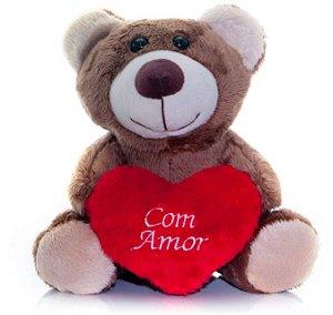 Urso de Pelúcia Doce Encanto Mini 17cm - CORES DIVERSAS